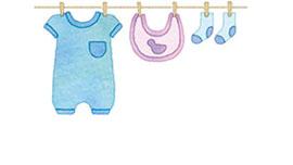 赤ちゃんのの洋服イメージ画像